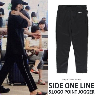 [UNISEX] BIGBANG/GD/GDRAGON st. SIDE ONE LINE LOGO POINT PANTS(2color)