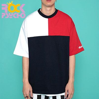 【ROCK PSYCHO】 3COLOR MATCHING OVERSIZED SHORT SLEEVED T-SHIRT