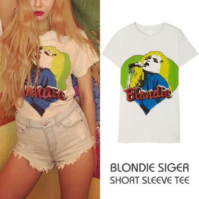 HyunA [Lip & Hip] MV ST.BLONDIE SIGER SHORT SLEEVE TEE(3size)