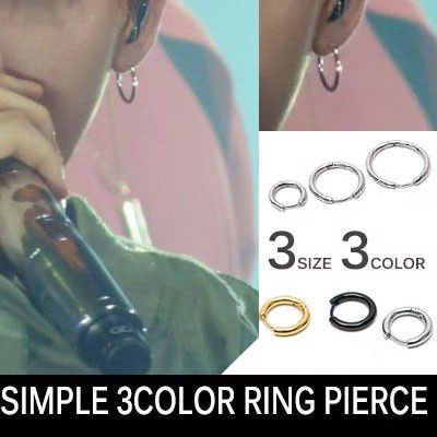 BIGBANG G-DRAGON [MADE] st,FASHION ITEMS![1ea]SIMPLE 3COLOR RING PIERCE 1pc