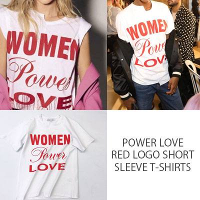 POWER LOVE RED LOGO SHORT SLEEVE T-SHIRTS(3size)