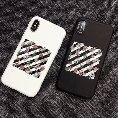 FLOWER GARDEN DIAGONAL PATTERN PHONE CASE(2color)