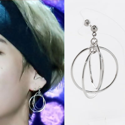 [1ea] bts V/taetae/taehyung st. DOUBLE RING PIERCE/PIERCING(3type)