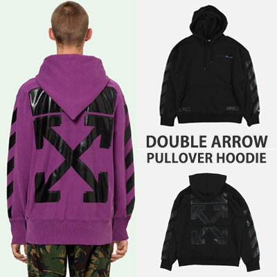 [UNISEX] DOUBLE ARROW PULLOVER HOODIE(2color)