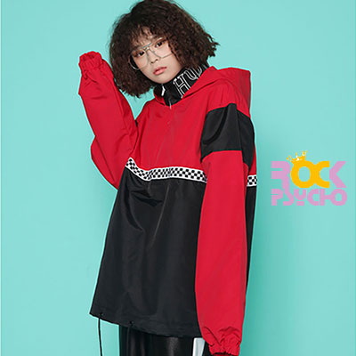 【ROCK PSYCHO】 OLD SCHOOL ANORAK -RED