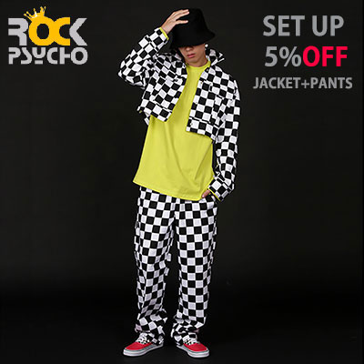 【ROCK PSYCHO】 [set-5%]CHECKER BOARD JACKET+PANTS SET