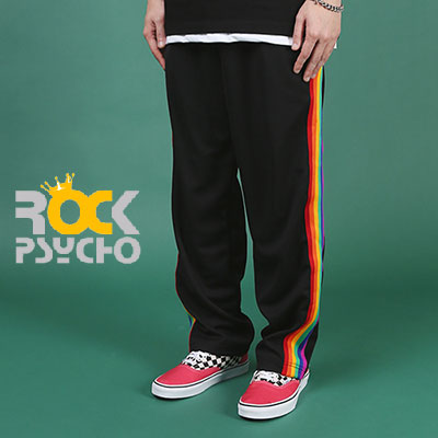 【ROCK PSYCHO】RAINBOW TRACK PANTS(L,XL)