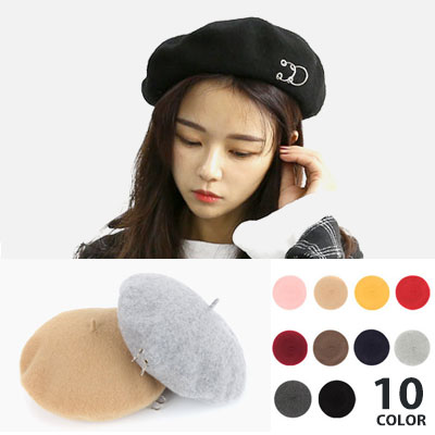 [UNISEX] TWO RING POINT COLOR BERET(10color)
