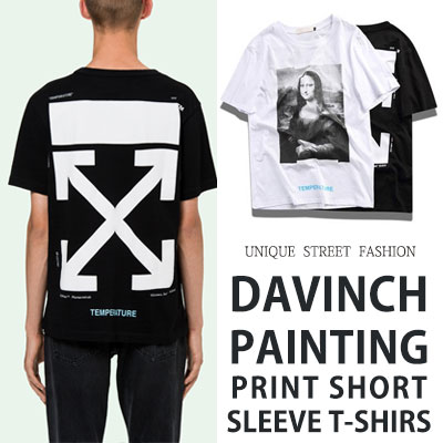 [UNISEX] DAVINCH PAINTING PRINT SHORT SLEEVE TSHIRTS(2color)