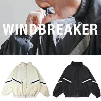 [UNISEX] V LINE DROP POINT WIND BREAKER(2color)