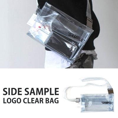 [UNISEX] SIDE SAMPLE LOGO CLEAR BAG