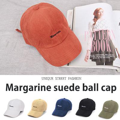 [UNISEX] MARGARINE SUEDE BALL CAP(6color)
