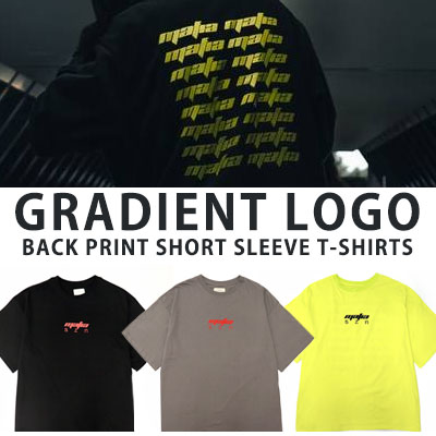 [UNISEX] GRANIENT LOGO BACK PRINT SHORT SLEEVE TSHIRTS(3color)