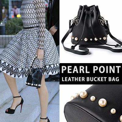 [real skin] PEARL POINT BUCKET BAG