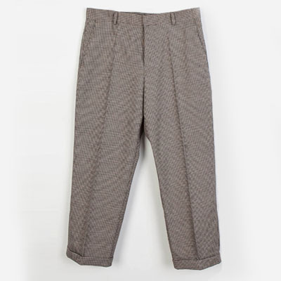 HOUND CHECK CROP PANTS(2color)