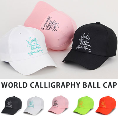 [UNISEX] WORLD CALLIGRAPHY EMBROIDERY BALL CAP(5color)