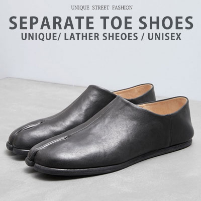 [Unisex][23.0~28.0cm]SEPARATE TOE SHOES/LEATHER SHOES/