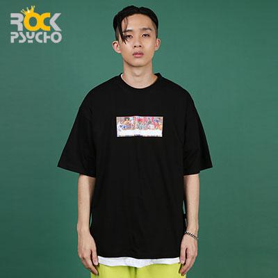【ROCK PSYCHO】Hip hop party short sleeve T-Shirt ( 2 COLORS )