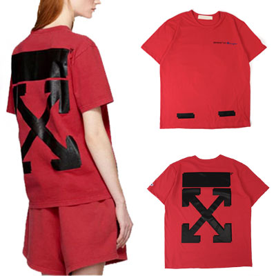[UNISEX] WHITE ARROW PRINT SHORT SLEEVE TSHIRTS-PINK