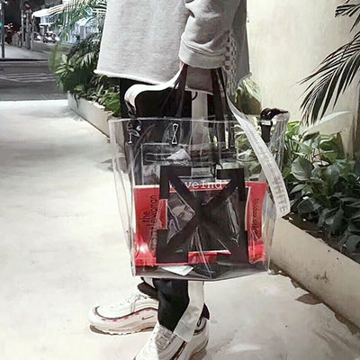 [L-SIZE] ARROW STRAP CLEAR BAG/SHOPPER BAG/SHOULDER BAG(3color)