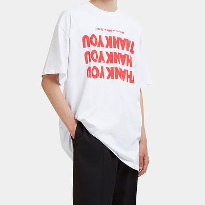 [UNISEX] THANK YOU ORANGE LOGO SHORT SLEEVE T-SHIRTS(2color)