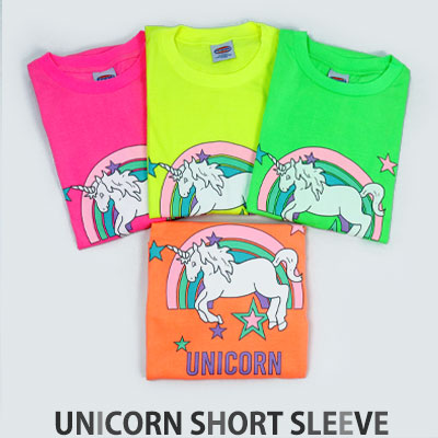 [UNISEX] RAINBOW STAR UNICORN SHORT SLEEVE TSHIRTS(4color)