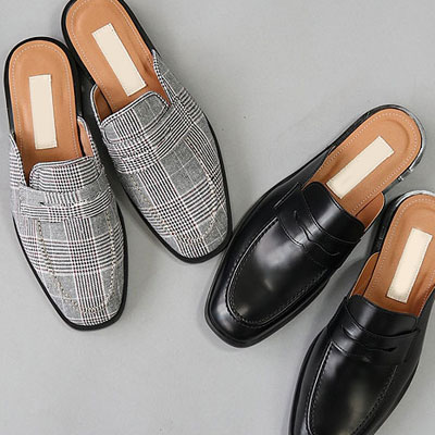 [25.0~28.0cm] CLASSIC AND GLAN CHECK BLOAFER(2color)