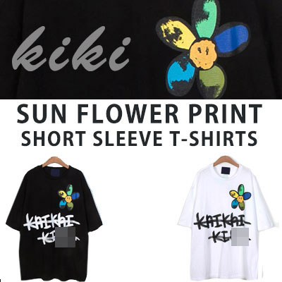 [UNISEX] SUN FLOWER PRINT SHORT SLEEVE TSHIRTS(2color)