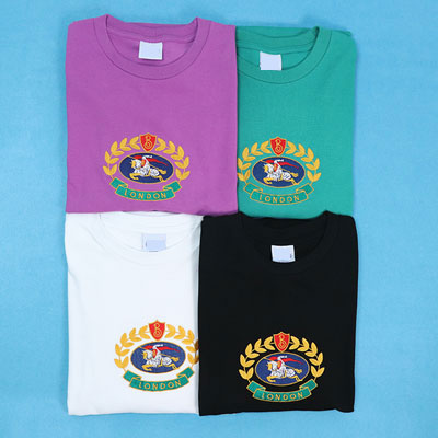 [UNISEX] SUPER OVER FIT!! EMBLEM EMBROIDERY POINT SHORT SLEEVE TSHIRTS(4color)