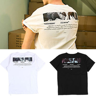 [UNISEX] CARAVAGGIO BACK PRINT SHORT SLEEVE TSHIRTS(2color 2size)