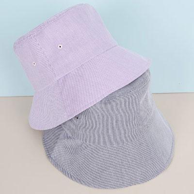 [UNISEX] PASTEL PIN STRIPE BUCKET HAT(3color)