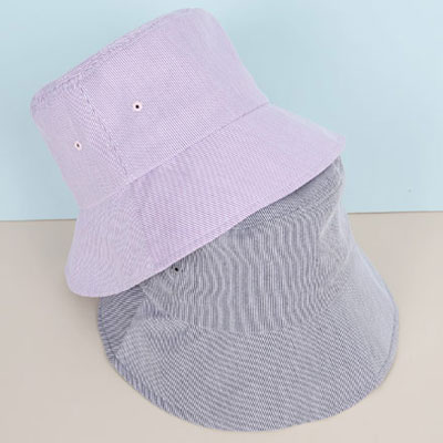 [UNISEX] PASTEL PIN STRIPE BUCKET HAT(3color)