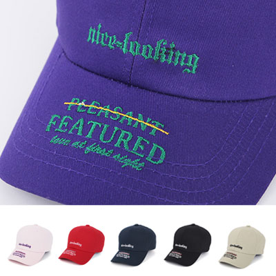 [UNISEX] NICE LOOKING EMBROIDERY BALL CAP(8color)