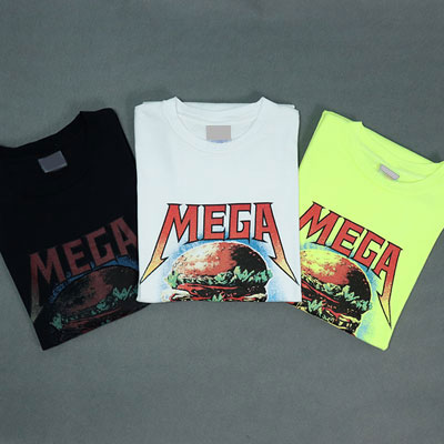 [UNISEX] MEGA HAMBURGER PRINT SHORT SLEEVED TSHIRTS(3color)