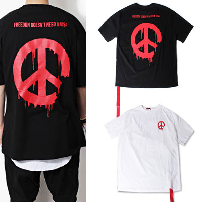 [Restock ]RED PEACEMARK SHORT SLEEVE T-SHIRTS