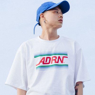 【2XADRENALINE】ADRN LINE LOGO T-Shirt /WHITE