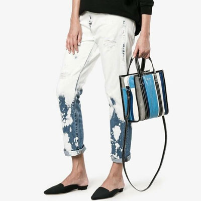 [S size]STRIPE SQUARE SHOULDER STRAP BAG(3type)