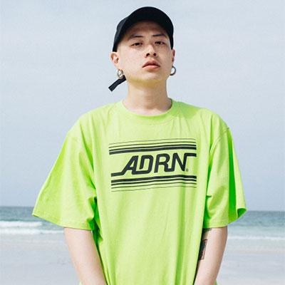 【2XADRENALINE】ADRN LINE LOGO T-Shirt /LIME