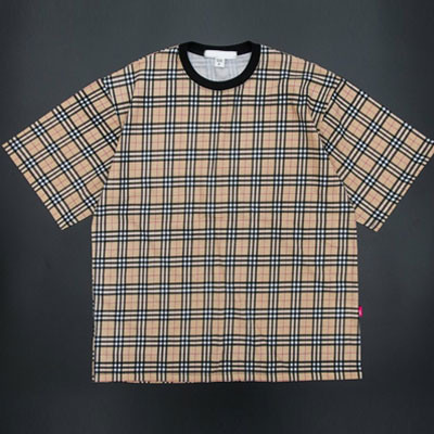 [UNISEX] CLASSIC CHECK SHORT SLEEVE T-SHIRTS(2color)