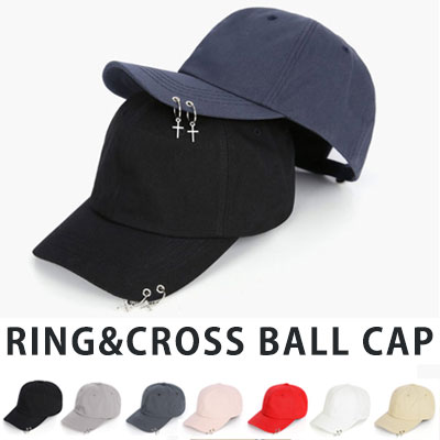 [UNISEX] RING & CROSS BALL CAP(7color)