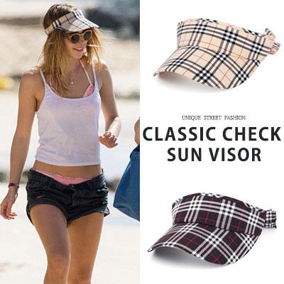 [UNISEX] CLASSIC CHECK SUN VISOR(2color)