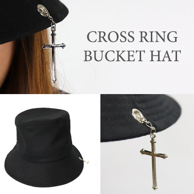 【ROCK PSYCHO】Cross Ring Bucket Hat