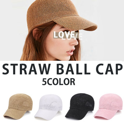 [UNISEX] STRAW BALL CAP(5color)
