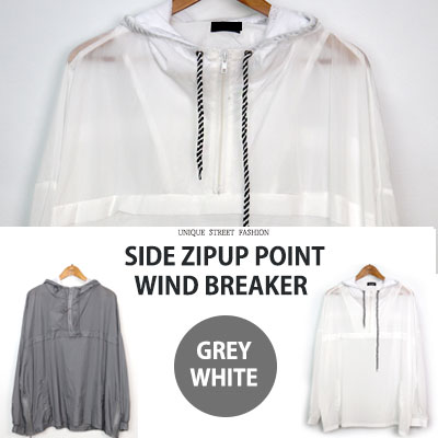 [UNISEX] SIDE ZIPUP POINT WINDBREAKER(2color)
