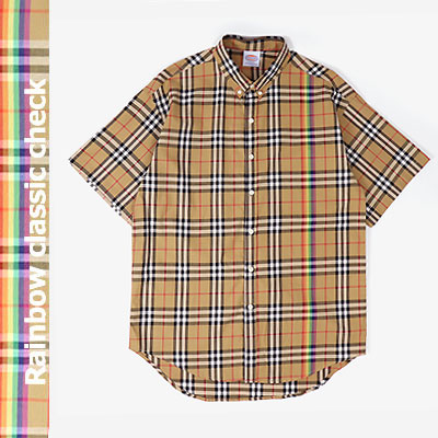 [UNISEX] RAINBOW CHECK SHORT SLEEVE SHIRTS