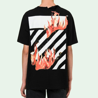 [UNISEX] FLAME HAND POINT SHORT SLEEVE TSHIRTS(2color)