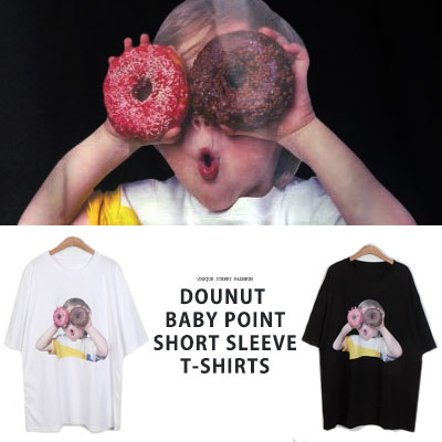 [UNISEX] DOUNUT BABY POINT TSHIRTS(2color)