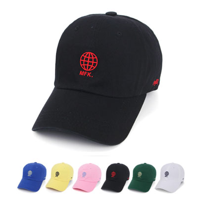 [UNISEX] GLOBAL MARK EMBROIDERY BALL CAP(6color)