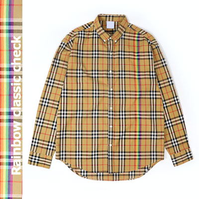 [UNISEX] RAINBOW CHECK LONG SLEEVE SHIRTS