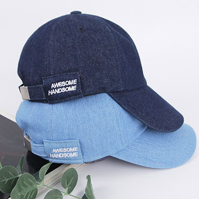 [UNISEX] AWESOME HANDSOME EMBROIDERY LOGO BALL CAP(2color)